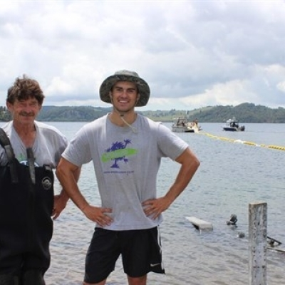 Father and son duo take hands-on approach to protect Rotorua lakes